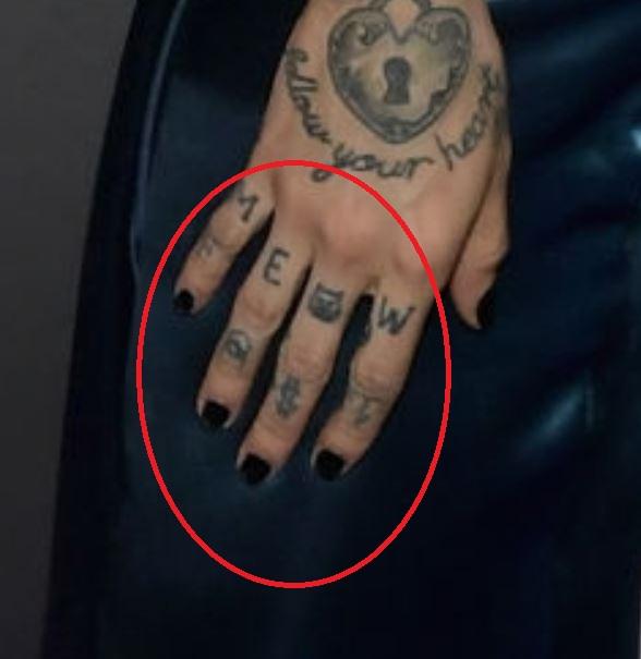 Unimerce right hand finger tattoos