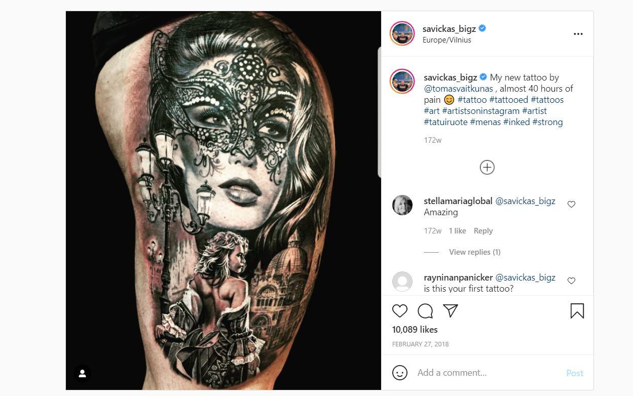 Zydrunas tattoo post