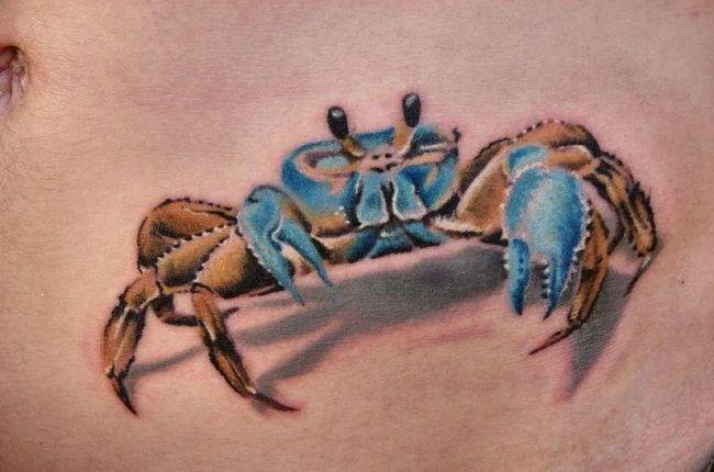 '3D Crab' Tattoo