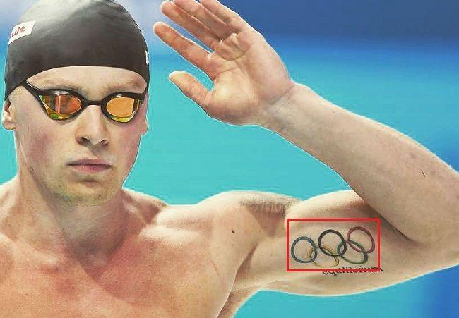Adam Peaty-Olympic Rings-Tattoo