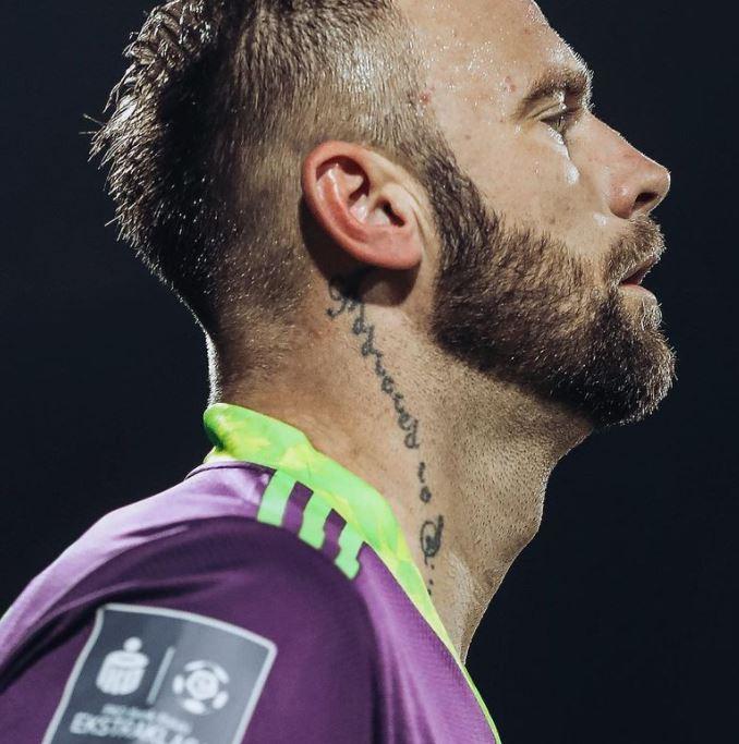 Artur neck tattoo