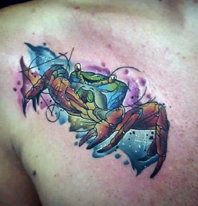 'Cosmic Crab' Tattoo
