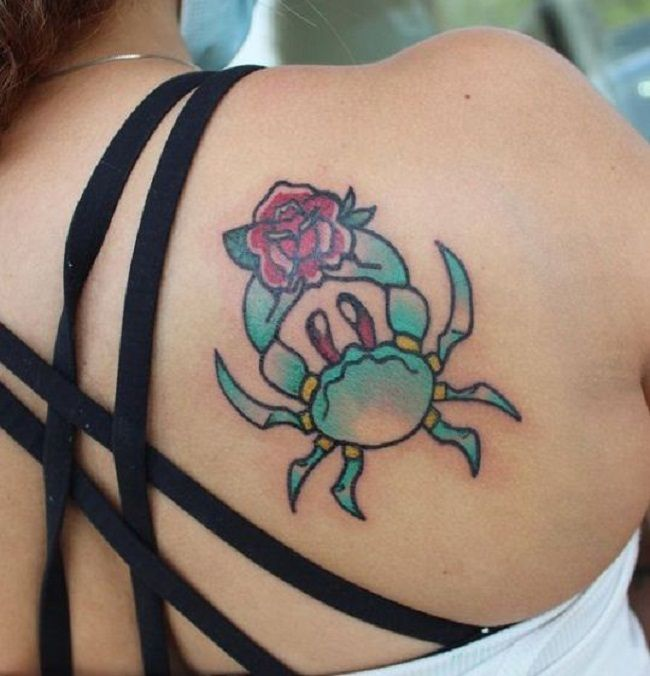 'Crab with a Rose'Tattoo