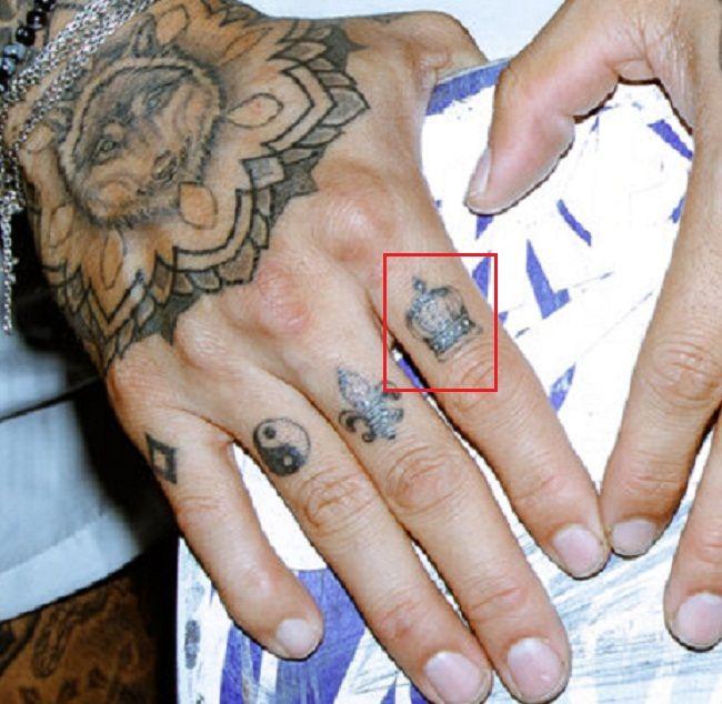 Crown Tattoo-Index Finger-Nyjah Huston