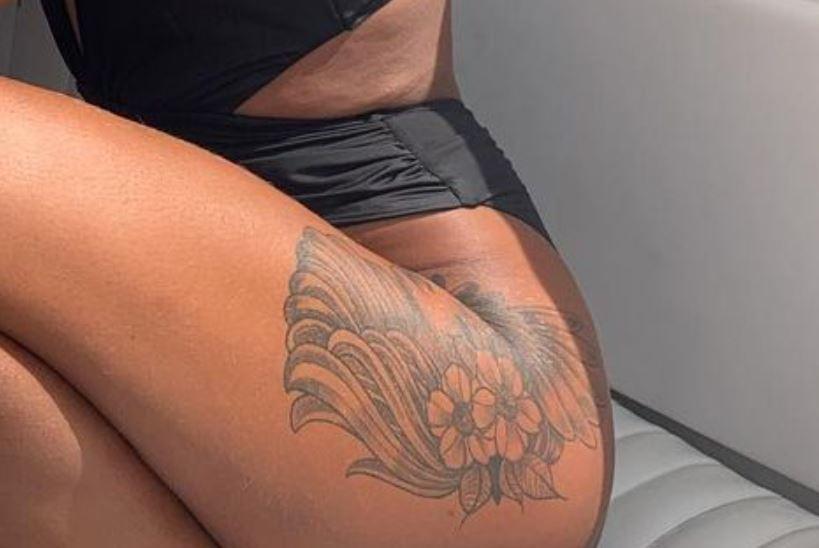 Fantine thigh tattoo