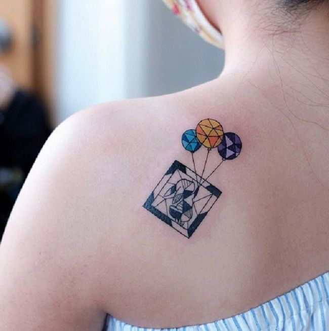 Geometrical Shaped Rabbit' Tattoo