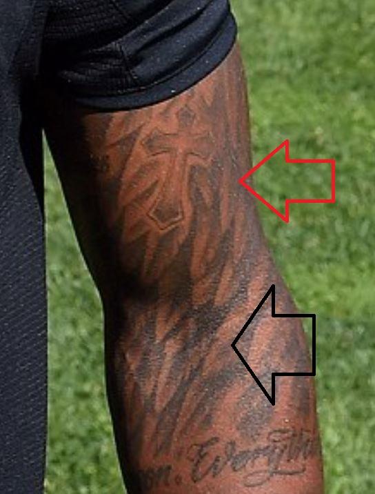Glen forearm pattern tattoo