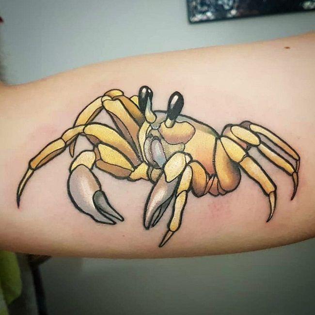'Glossy Golden Crab' Tattoo