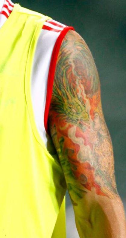 Harry portrait on inner arm