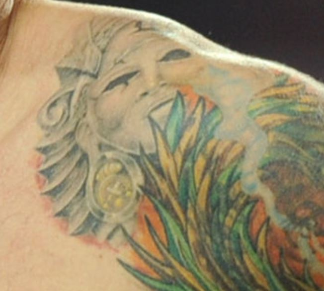 Harry shoulder tattoo