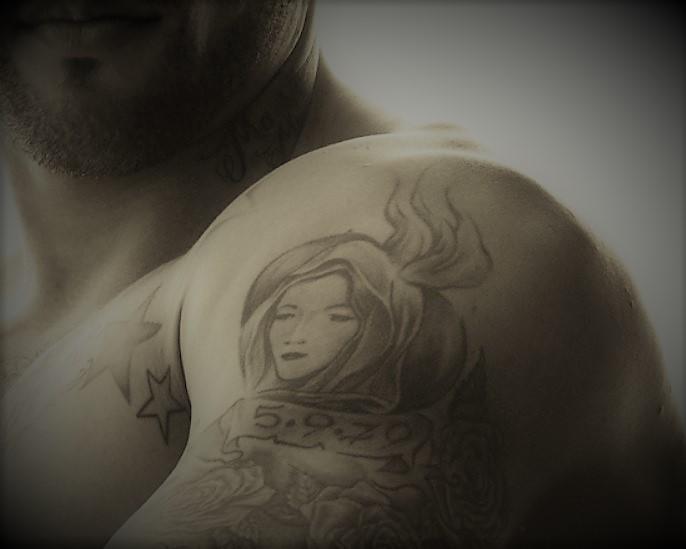 John bicep portrait tattoo