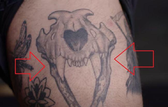Lion Skull Tattoo-Nyjah Huston-Tattoo
