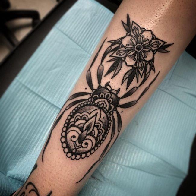 'Mandala Spider' Tattoo