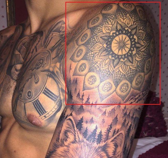 Mandala Tattoo-Nyjah Huston