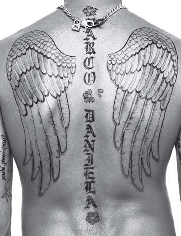 Marco back tattoo