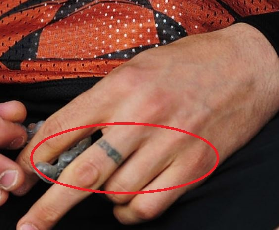 Marco finger tattoo