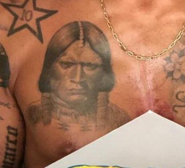 Marco portrait on chest