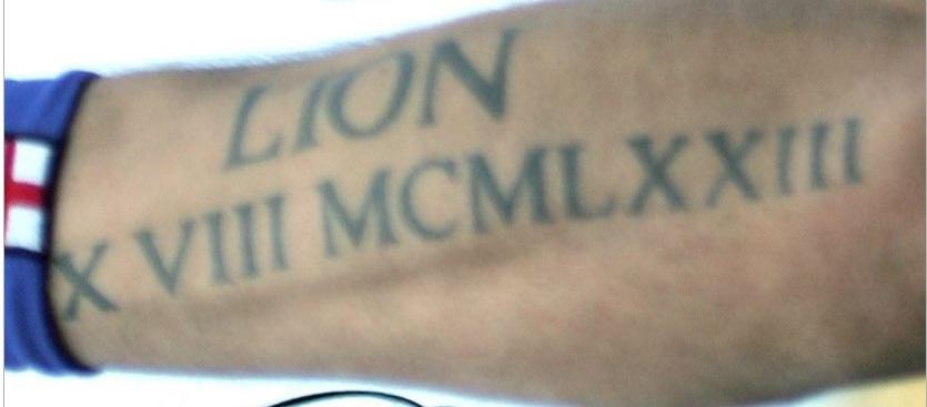 Marco roman numerals tattoo