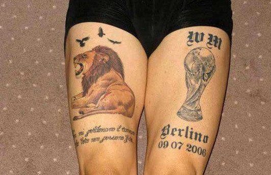 Marco thigh tattoos