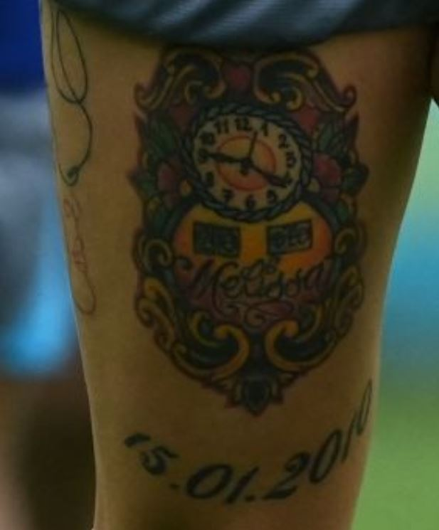 Marek right thigh tattoo
