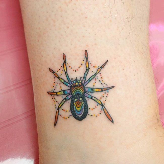 'Multicolored Spider' Tattoo