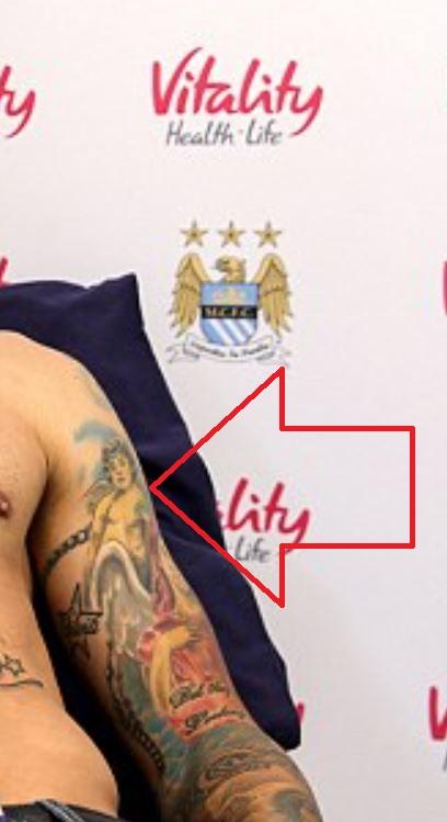 Nicolas left bicep tattoo