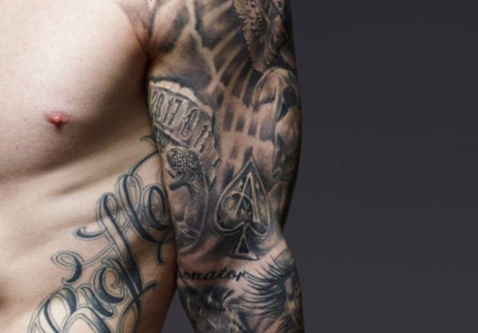 Nile bicep tattoo