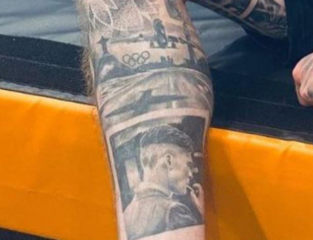 Nile right leg tattoo