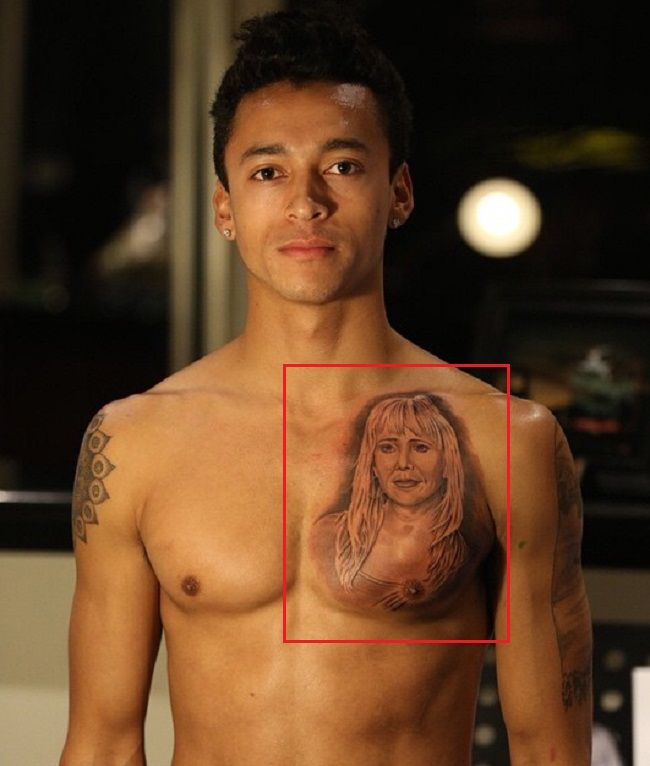 Portrait of Mother-Tattoo Nyjah Huston