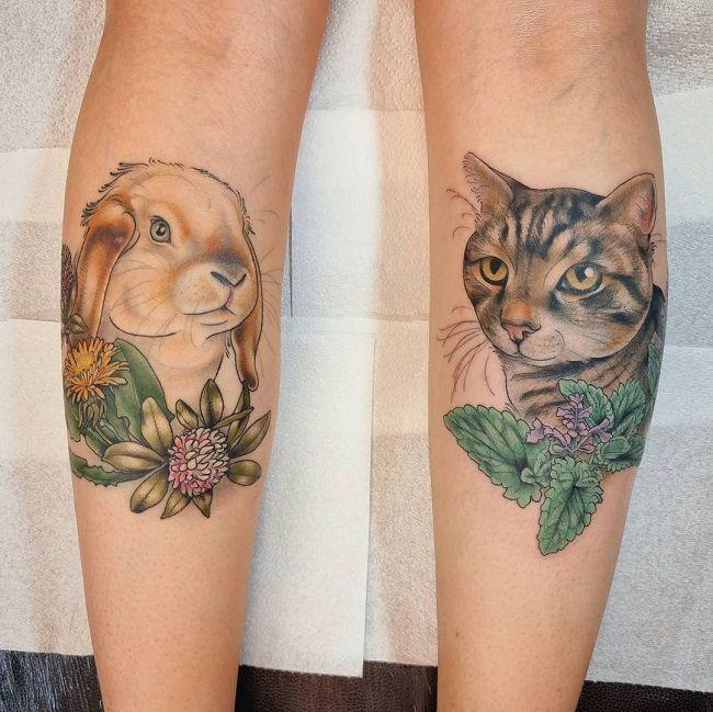 Rabbit-Cat Tattoo
