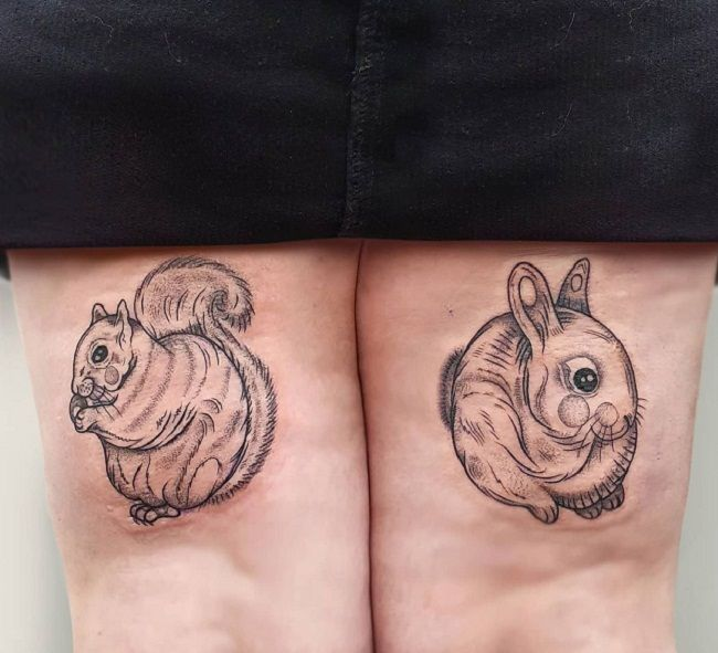 Rabbit-Squirrel Tattoo