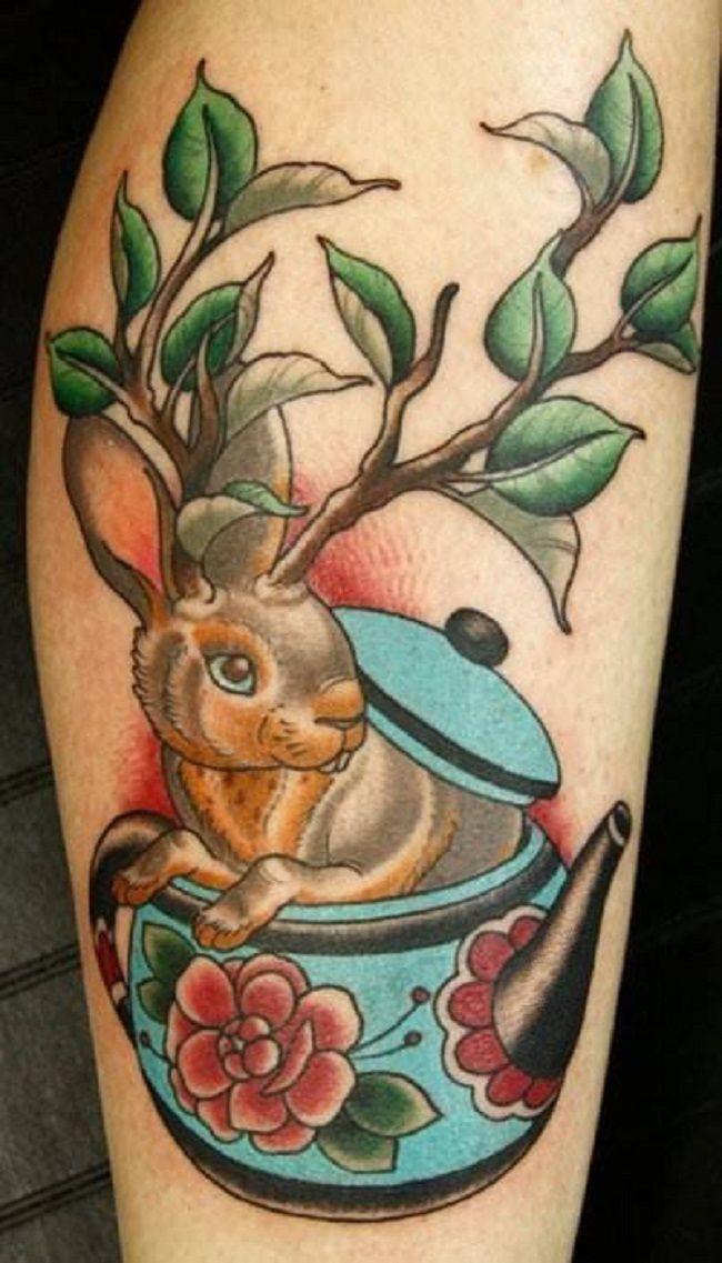 'Rabbit inside the Teapot' Tattoo