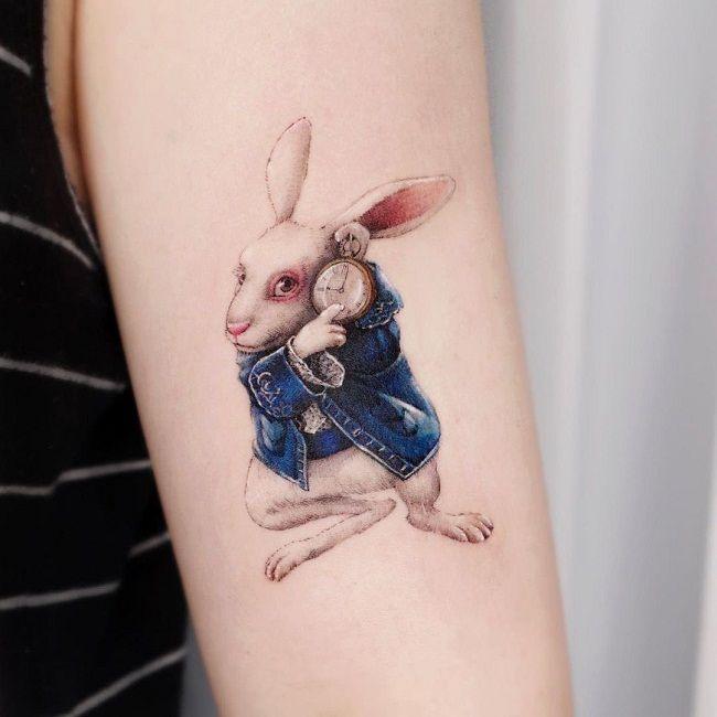 'Rabbit wearing a Jacket' Tattoo