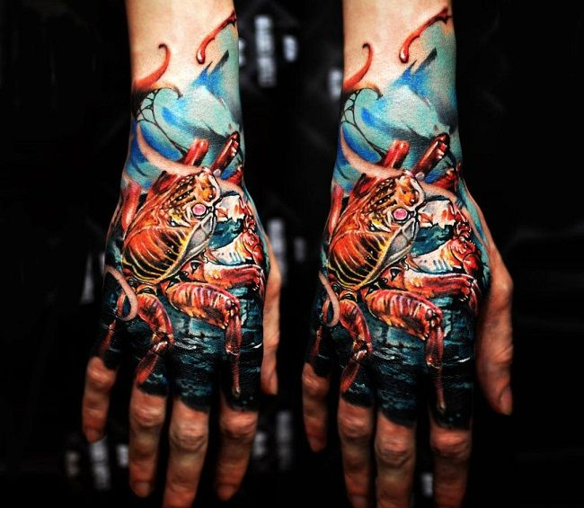 'Realistic Crab' Tattoo