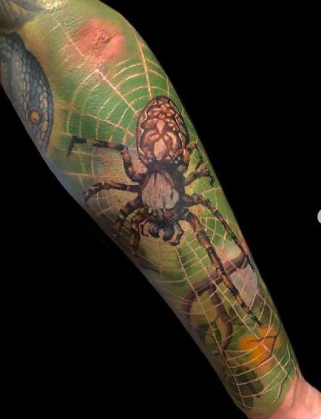 'Realistic Spider' Tattoo