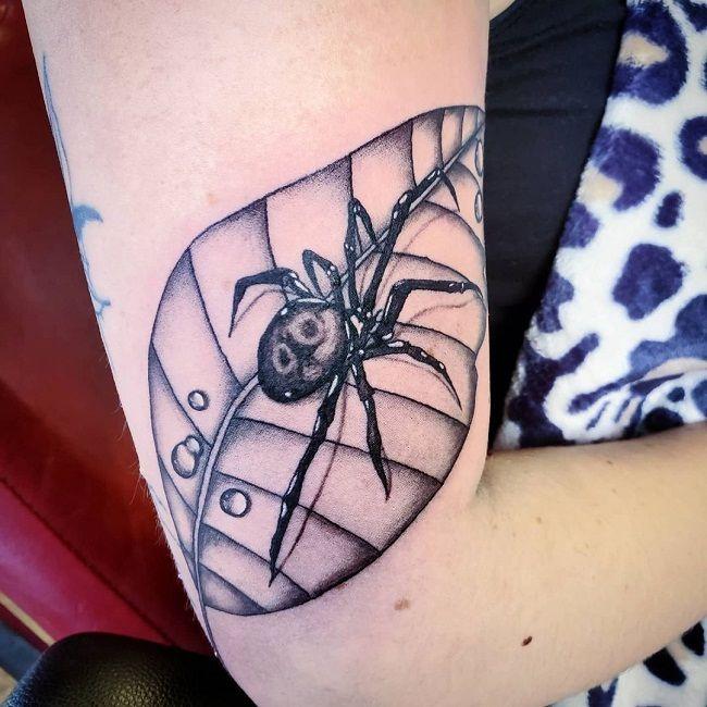 'Spider on Leaf' Tattoo