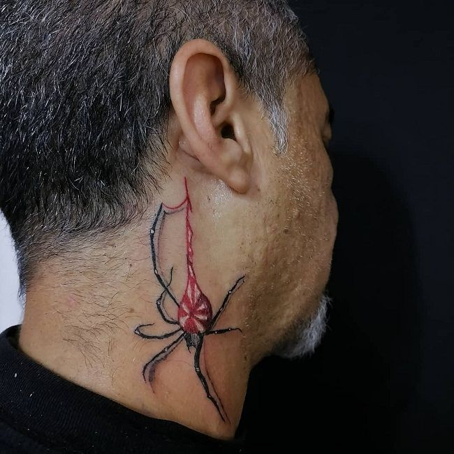 'Spider with a Candy' Tattoo