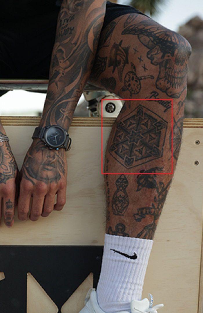 Tattoo on left leg-Nyjah