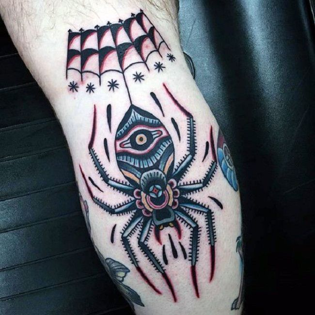 'Traditional Spider' Tattoo