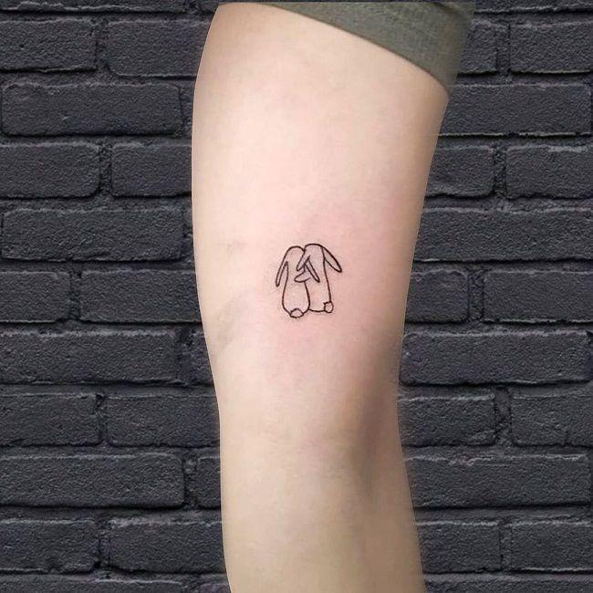 Twin Rabbit Tattoo
