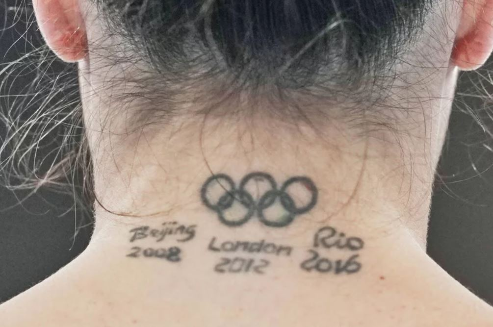 Vanessa Olympic Rings Tattoo