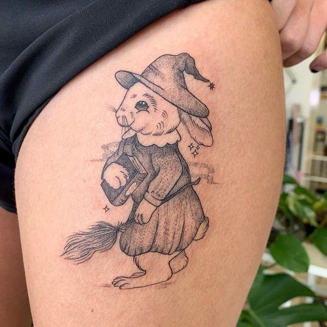 Wizard Rabbit Tattoo