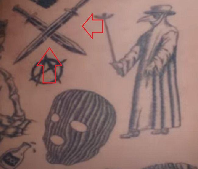 crossed swords tattoo-Nyjah Huston (2)