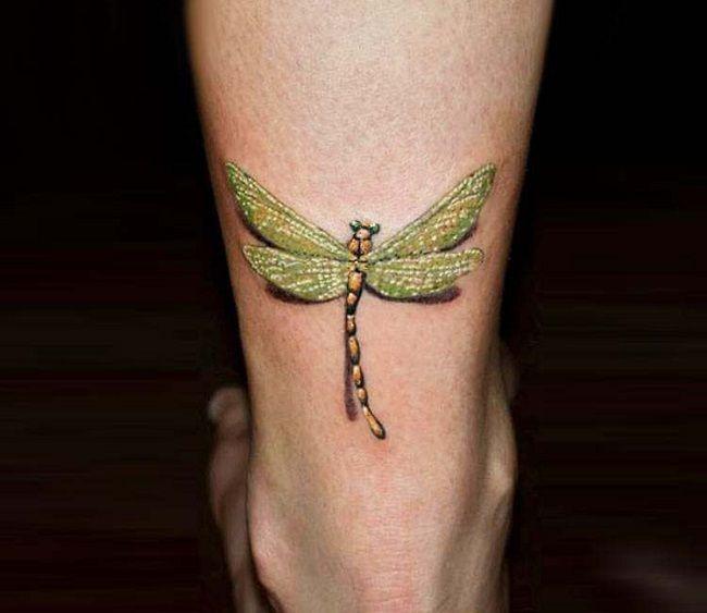 3-DimensionalDragonfly Tattoo