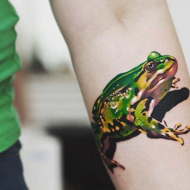 3D Frog Tattoo