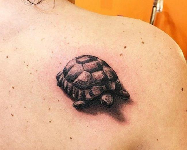 3D Turtle Tattoo