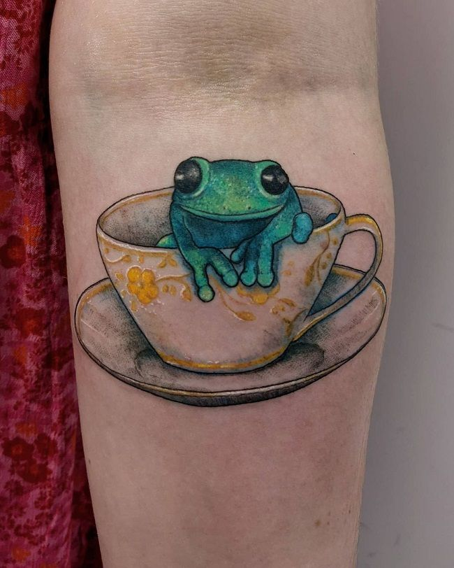 A Frog inside the Cup' Tattoo