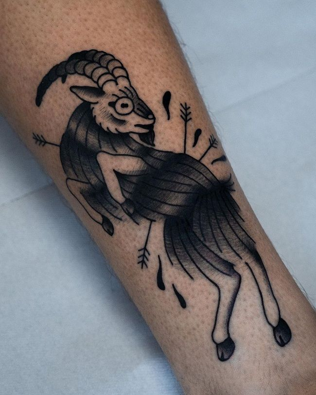 'A Goat dogged with Arrows' Tattoo