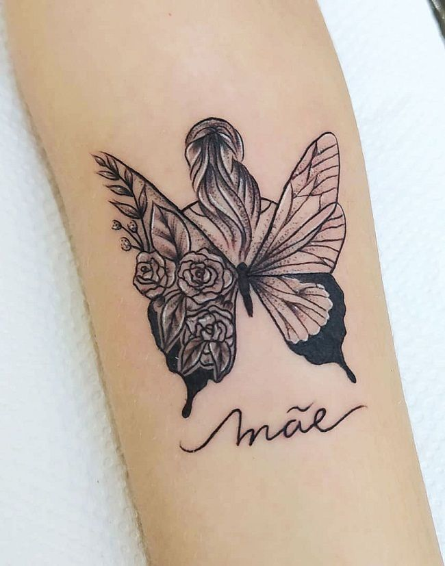 'A Lady with Butterfly Wings' Tattoo