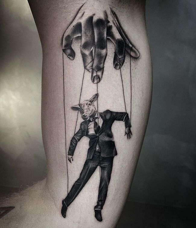 'A Puppet Sheep' Tattoo